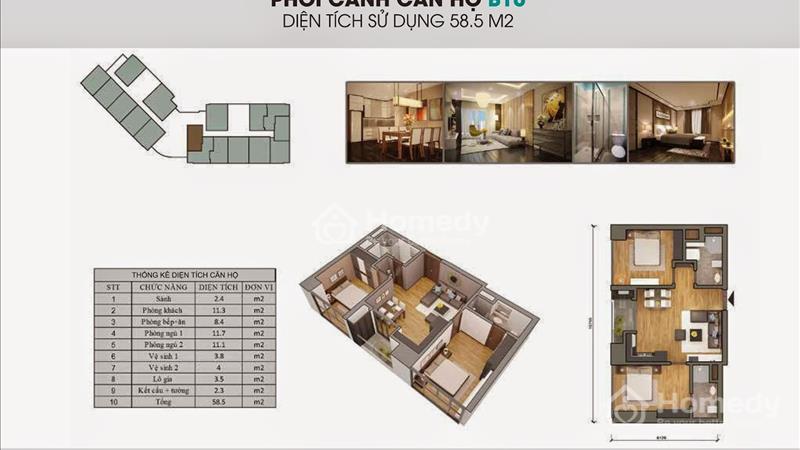 Bán suất ngoại giao 59,4 m2, tầng đẹp The Garden Hill - giá siêu rẻ, kí trực tiếp chủ đầu tư - 6