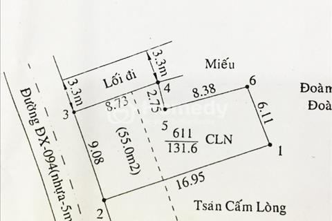Bán đất phường Hiệp An, gần công an phường Hiệp An, gần trường, đường dx-094, chính chủ