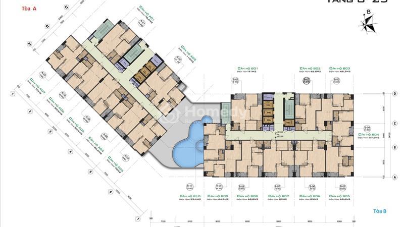 Bán suất ngoại giao 59,4 m2, tầng đẹp The Garden Hill - giá siêu rẻ, kí trực tiếp chủ đầu tư - 2
