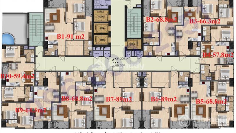 Bán suất ngoại giao 59,4 m2, tầng đẹp The Garden Hill - giá siêu rẻ, kí trực tiếp chủ đầu tư - 5