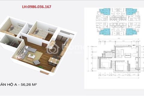 Chỉ còn lại 6 Căn 56 m2 chung cư Osaka Complex