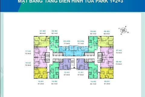 Bán suất ngoại giao 72 m2 chung cư Eurowindow River Park