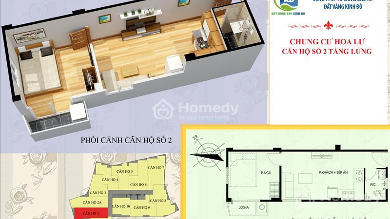 Cần bán căn hộ giá gốc 830 triệu, sổ đỏ chính chủ, full đồ, ở ngay ở quận Hai Bà Trưng, Hà Nội - 1
