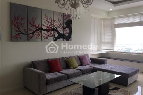 Căn hộ Saigon Pearl tòa Sapphire tầng cao, 140 m2, 3 phòng ngủ, nội thất cao cấp bố trí hợp lý