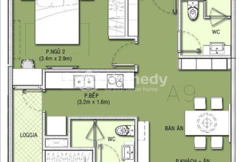 Chính chủ cần bán căn hộ A12, diện tích 83,68 m2 có 2 phòng ngủ