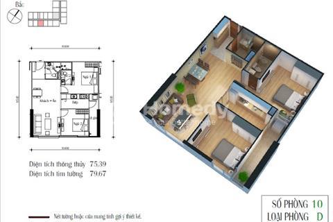 Bán chung cư Eco Green City, diện tích 75,39 m2, giá rẻ 25 triệu/m2
