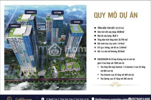 Chung cư Goldseason 47 Nguyễn Tuân - Giá 1,9 tỷ/căn, chiết khấu 13,1%, tặng 240 triệu, lãi suất 0%
