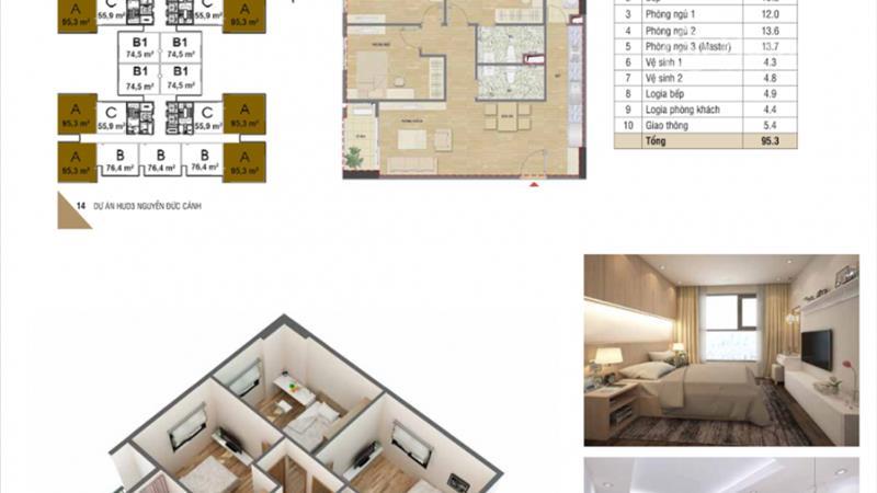 Mở bán chung cư HUD3 Nguyễn Đức Cảnh giá chỉ từ 1,1 tỷ/ căn, vị trí đắc địa, nội thất hoàn hảo - 7