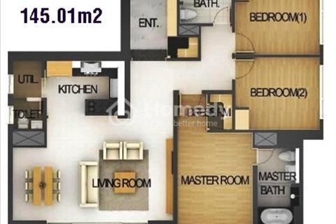 Cần bán căn hộ Xi Riverview, 145 m2, 3 phòng ngủ, view hồ bơi, công viên nội khu. Giá 6,8 tỷ.