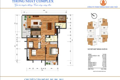 Bán căn hộ Thống Nhất Complex, diện tích 122 m2, giá 28,5 triệu/m2