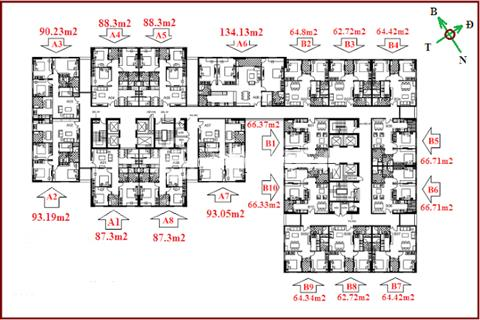 Chính chủ bán căn góc 3 ngủ 93 m2, chung cư 122 Vĩnh Tuy, tầng đẹp