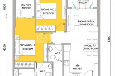 Bán căn hộ M-One quận 7, giá chỉ 1,7 tỷ căn 2 phòng ngủ  view đẹp, giao nhà hoàn thiện