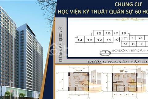Chung cư Học Viện Kỹ Thuật Quân Sự, 60 Hoàng Quốc Việt, giá 24 triệu/m2