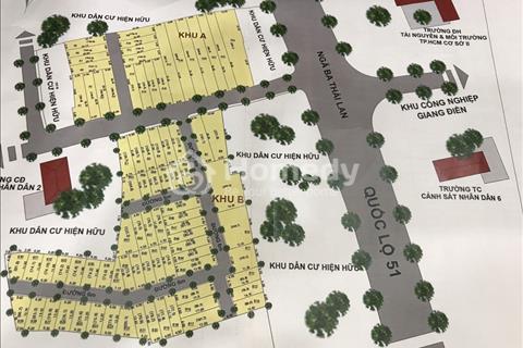 Bán đất nền 100 m2 - Mặt tiền ngã 3 Thái Lan - Cách trung tâm thương mại Long Thành 2 km
