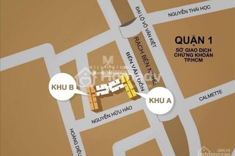 Bán Officetel liền kề trung tâm quận 1, giá từ 46 triệu/m2, sở hữu lâu dài