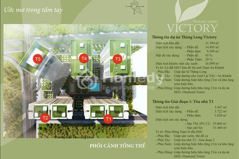 Bán căn hộ Thăng Long Victory, suất ngoại giao, 12,5 triệu/m2, 93,3 m2, nhận nhà ngay.
