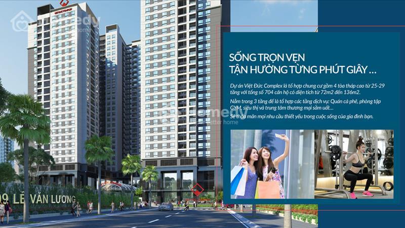 Cháy hàng chỉ còn 100 căn cuối dự án Việt Đức Complex, giá từ 24 triệu/m2. View hồ Nhân Chính 13 ha - 2