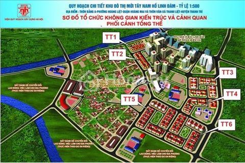 Cần bán ô góc biệt thự Tây Nam Linh Đàm, diện tích 274 m2.