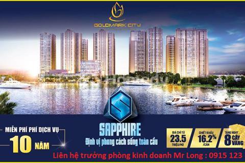 Suất ngoại giao khu Sapphire, chiết khấu lên đến 16,2% + 10 năm phí dịch vụ + 10 triệu.