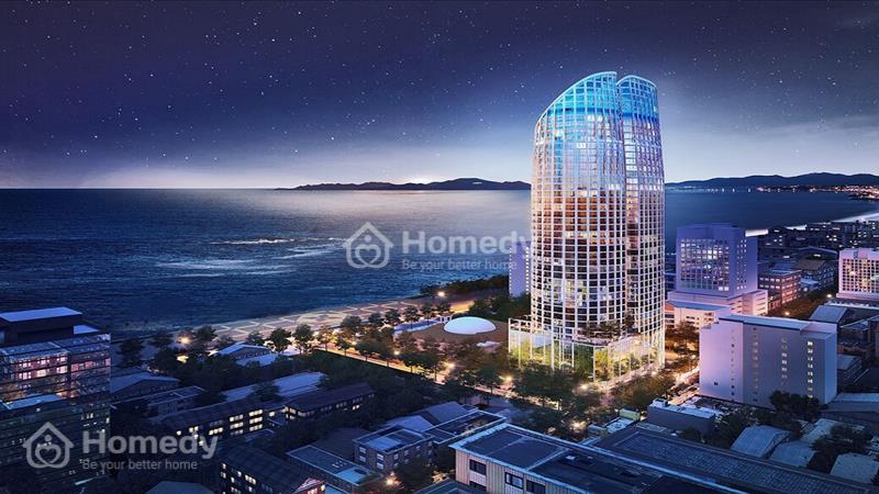 Căn hộ view 100% biển Nha Trang 4 mặt tiền full đồ, bể bơi vô cực tại nóc tòa nhà - 1