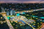 Cảnh quan khu dân cư bán biệt lập cao cấp Centana Điền Phúc Thành về đêm dưới những ánh đèn rực rỡ của các tòa nhà, khẳng định đẳng cấp của chủ nhân dự án.
