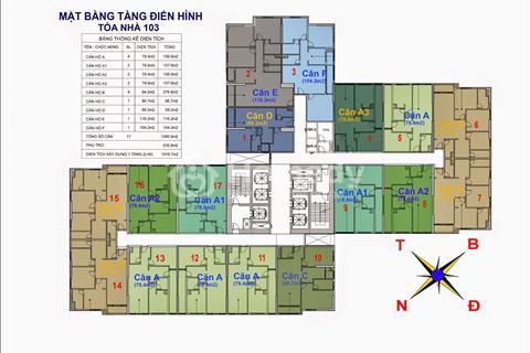 Bán căn hộ 74,55 m2 tại chung Cư Goldmark City, 1601, R3 - Giá 24 triệu/m2