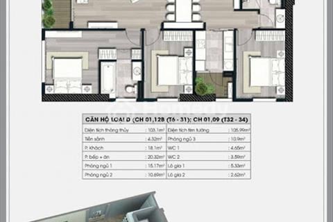Bán căn hộ 45,7 m2, chung cư Ecolife Capitol, 1808, A2, giá 1,2 tỷ