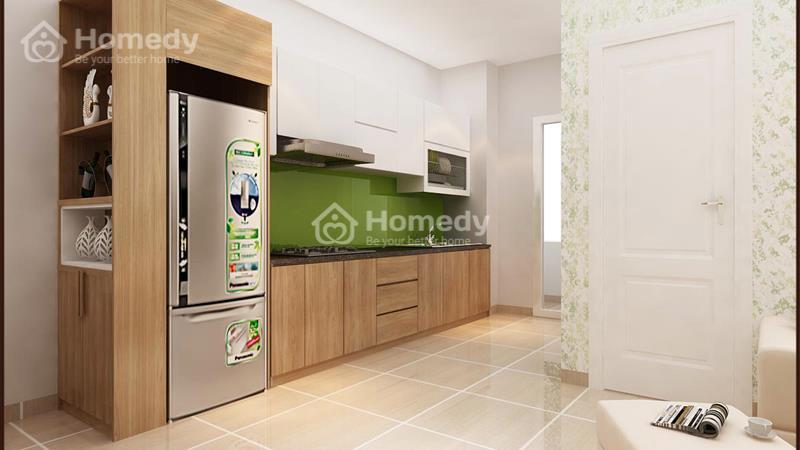 Cho thuê căn hộ chung cư lô A 199, 3 phòng ngủ, 2WC, không nội thất. Giá 6 triệu/tháng - 2