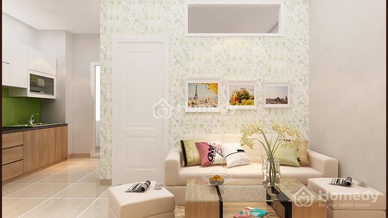 Cho thuê căn hộ chung cư lô A 199, 3 phòng ngủ, 2WC, không nội thất. Giá 6 triệu/tháng - 4