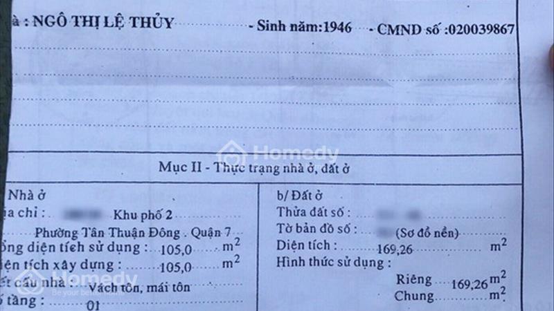 Cần bán gấp dãy nhà trọ hẻm 180 Bùi Văn Ba, phường Tân Thuận Đông, quận 7 - 4