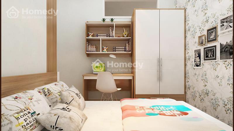 Cho thuê căn hộ chung cư lô A 199, 3 phòng ngủ, 2WC, không nội thất. Giá 6 triệu/tháng - 5