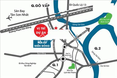 Bán căn hộ 3 phòng ngủ chính chủ ở liền ngay trung tâm quận Bình Thạnh