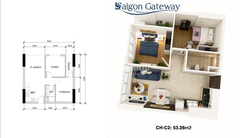 Saigon Gateway Quận 9 Thanh toán 179 triệu ký hợp đồng, vị trí vàng Ga Metro, tặng full Nội thất!!! - 8
