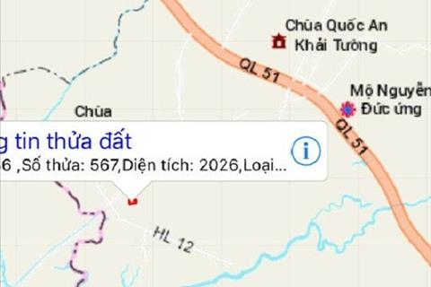 Bán đất công nghiệp Long Phước, Long Thành, Đồng Nai, có sổ hồng, tiện làm nhà xưởng. Giá 3,1ỷ