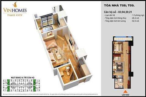 Cho thuê căn hộ Times City - Park Hill  hướng Nam tầng trung giá 7 triệu/tháng