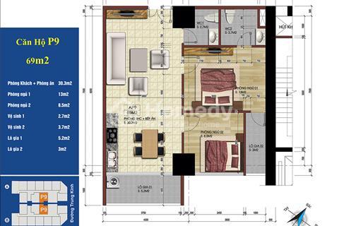 Bán lại 2 căn số 09, ban công Đông Nam, dự án 219 Trung Kính của khách đầu tư