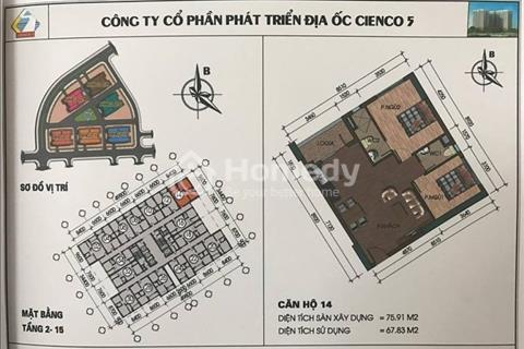 Căn góc view hồ giá rẻ chung cư Thanh Hà Cienco 5