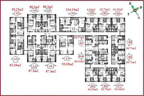 Bán căn hộ 2 phòng ngủ, diện tích 62 m2-64 m2-66 m2, full nội thất chung cư 122 Vĩnh Tuy