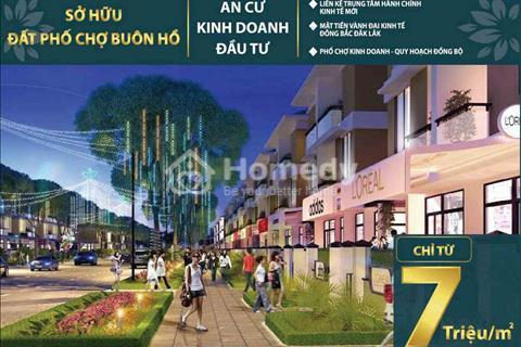 Chỉ từ 7 triệu/m2, sở hữu ngay đất nền phố chợ trung tâm thị xã Buôn Hồ