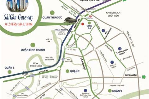 Bán chung cư Quận 9, ngay mặt tiền xa lộ Hà Nội, đối diện trạm Metro số 11. Giá chỉ 1,15 tỷ