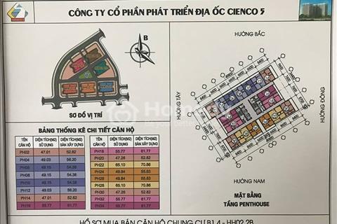 Bán rẻ căn hộ Penthouse view Hồ giá chỉ 9,785 triệu/m2 tại chung cư Thanh Hà Cienco 5