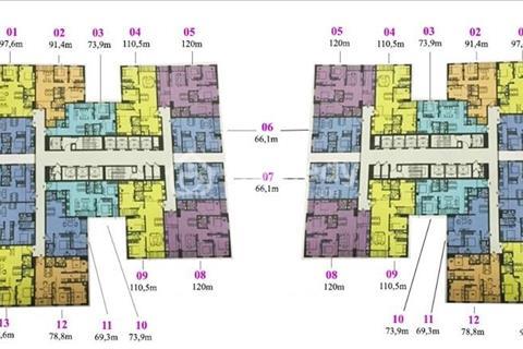 Bán chung cư Imperia Garden, 78,8 m2, tầng 1512, tòa 27 tầng, giá 32 triệu/m2