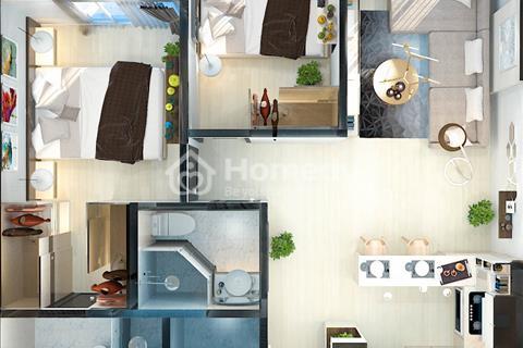 Cho thuê căn hộ chung cư Orchard Garden Hồng Hà, 2 phòng ngủ, 73 m2, cao cấp mới 100%
