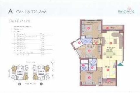 Bán căn hộ tầng 20 block A, diện tích 122 m2, nội thất tiện nghi đầy đủ