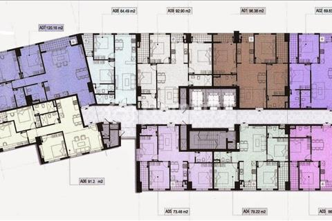 Bán chung cư OCT5 tầng 18.09 tòa A, diện tích 92,9 m2, 3 phòng ngủ full nội thất, sổ đỏ chính chủ