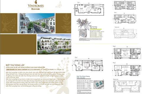 Bán biệt thự song lập Vinhomes Riverside The Harmony, vị trí đẹp giá tốt nhất thị trường