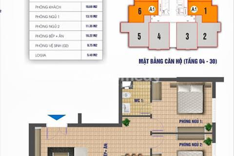 (Cô Hương) Bán căn hộ chung cư Nam Xa La, diện tích 83,8 m2, tầng 1811 CT1, giá 12,5 triệu/m2