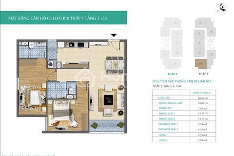 Bán suất ngoại giao căn hộ Xuân Phương Residence 55 m2, giá gốc 21 triệu/m2 + chênh 100 triệu