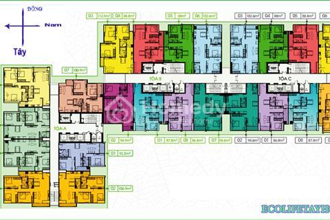 Cần bán căn hộ F06 tòa C Ecolife Tây Hồ tầng đẹp, diện tích 112,9 m2, giá 29,5 triệu/m2