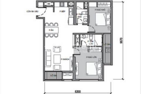 Bán ngay căn hộ 2 phòng ngủ, Park 1 - Times City. 84 m2, giá gốc 3,25 tỷ. Full nội thất